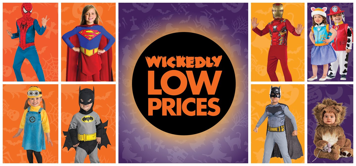 Wickedly Low Prices - Halloween Costumes For Kids